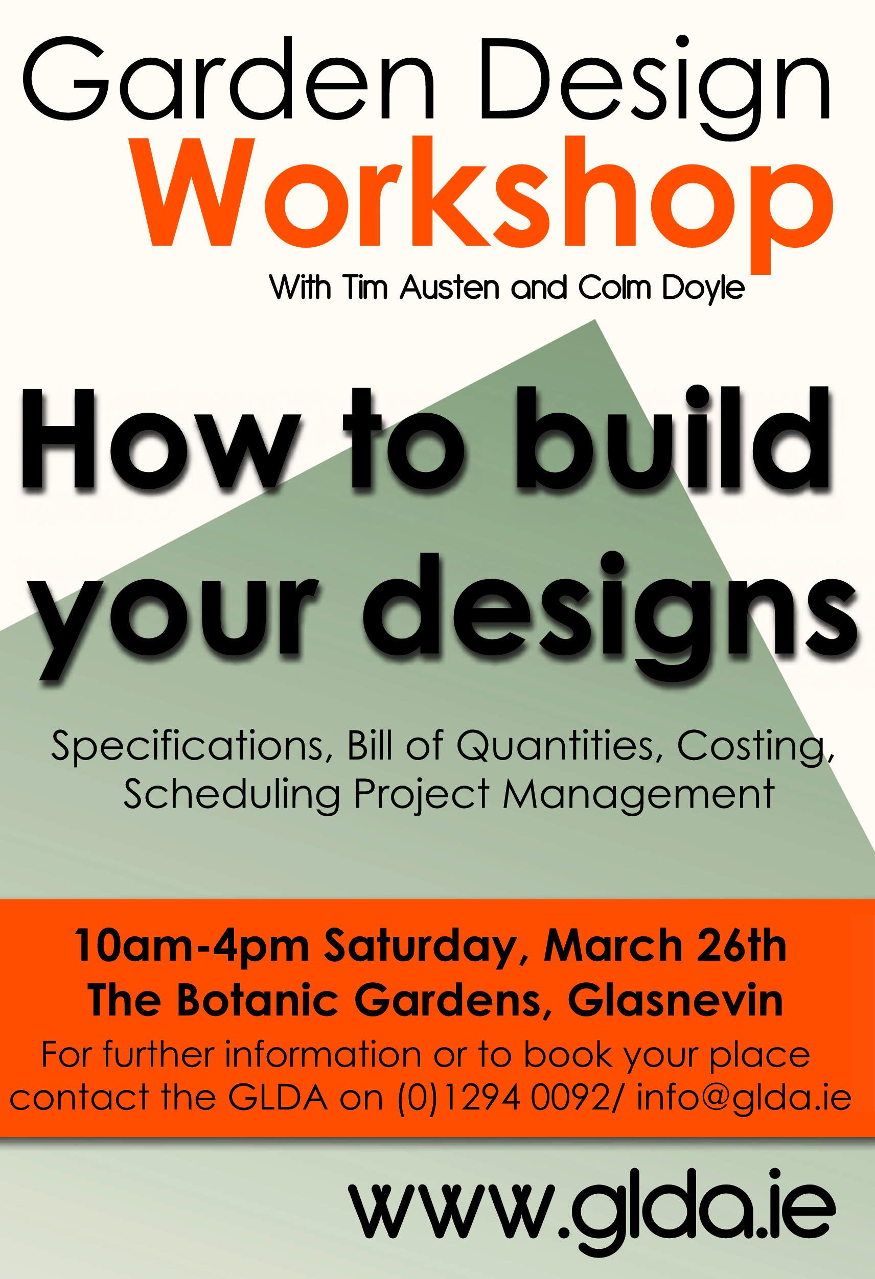 Workshop on how to build your garden designs