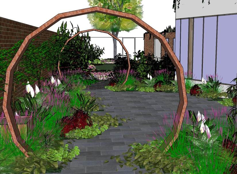 Wood idea how to garden design sketch up for Irish garden designs