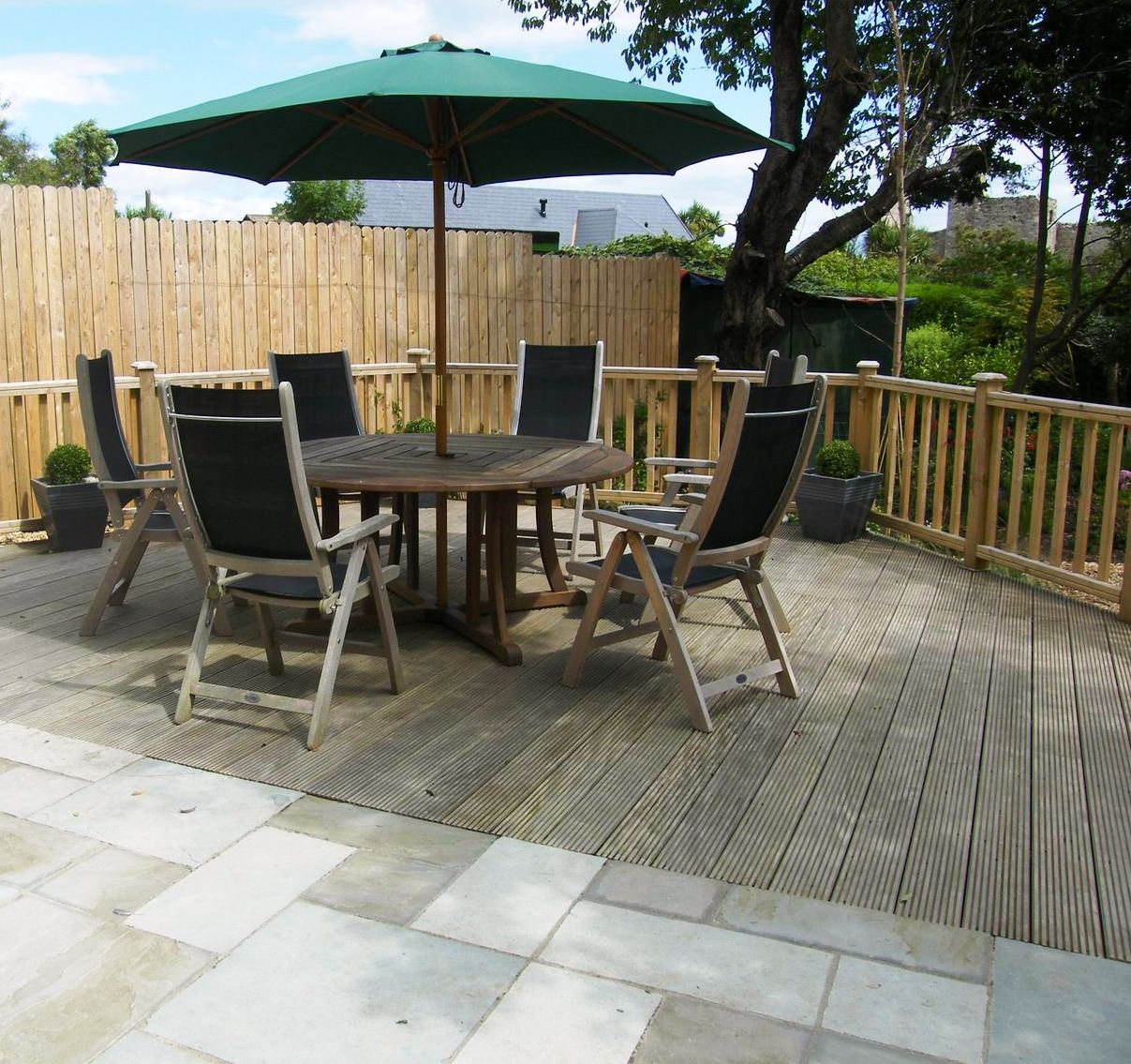 Garden design tip 2 paving tim austen 39 s blog for Gardens with decking and paving