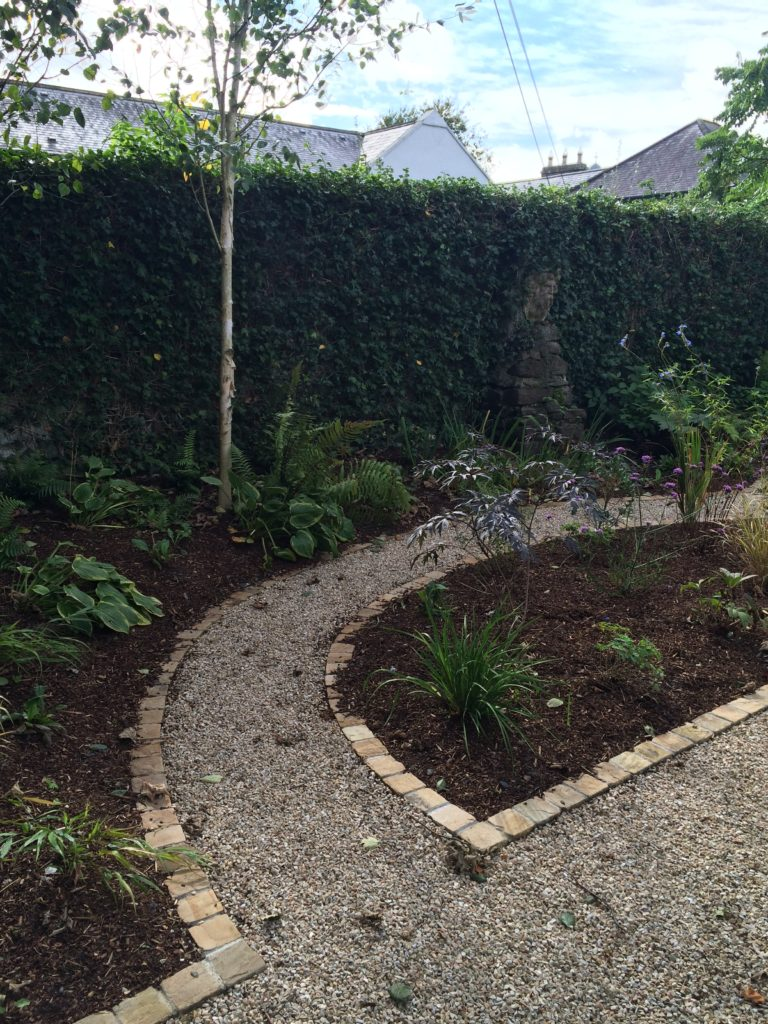 garden, planting, maintenance, paths, cobbles
