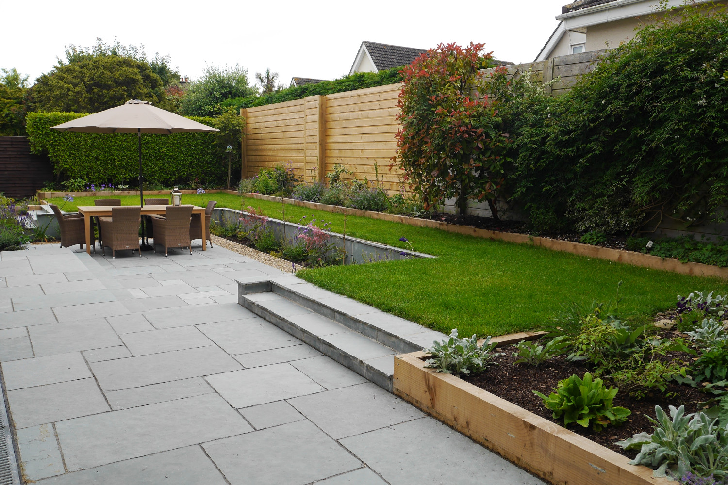 Family garden in monkstown tim austen garden designs for Back garden designs