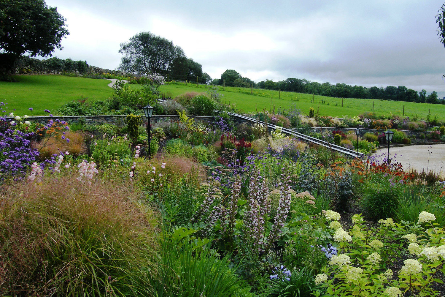 Floral abundance garden in killaloe co clare tim for Rural landscape design