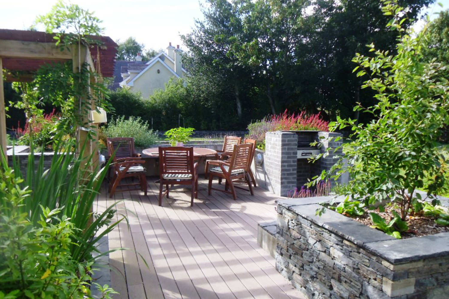 Tim Austen Garden Design Stylish Back Garden Killarney. Outdoor garden room in Killarney  Co  Kerry   Tim Austen Garden