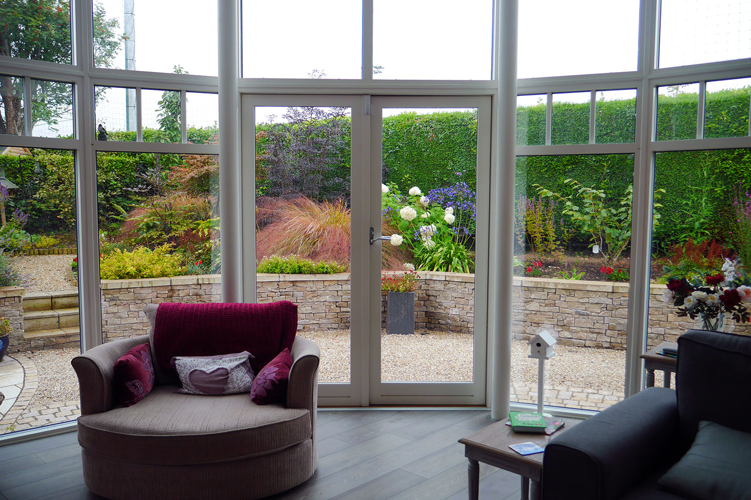 window, view, garden, lounge, outdoor room
