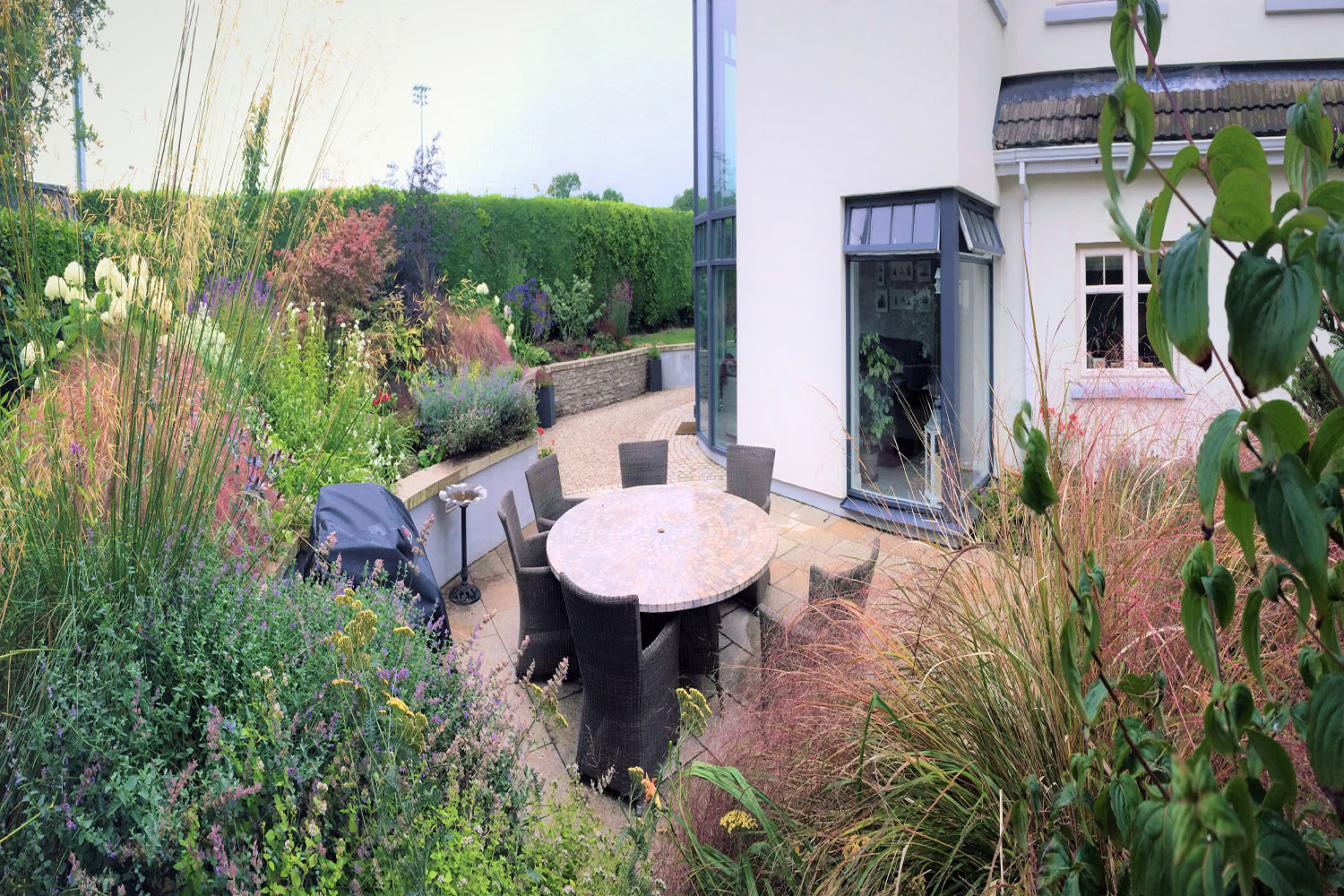 patio, garden, design, bbq, space, paving, extension